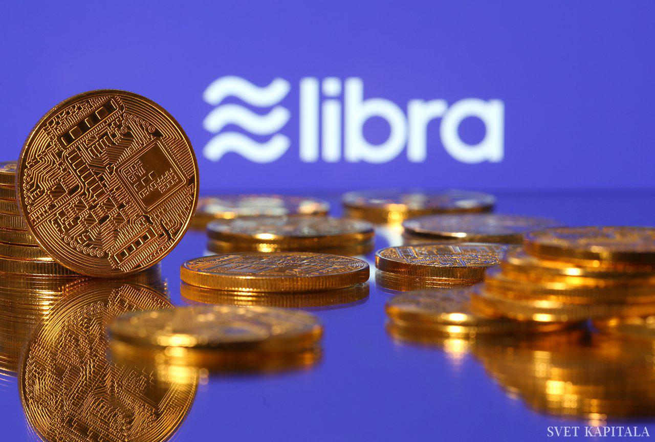 Fotografija: Representations of virtual currency are displayed in front of the Libra logo in this illustration picture, June 21, 2019. REUTERS/Dado Ruvic/Illustration - RC141DEAAD20