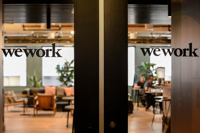 WeWork logos are seen at a WeWork office in San Francisco, California, U.S. September 30, 2019.  REUTERS/Kate Munsch