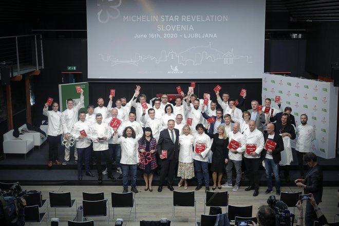 Slavnostna podelitev Michelinovih zvezdic najboljšim restavracijam in chefom na Ljubljanskem gradu, v Ljubljani, Slovenija, 16. junija 2020. FOTO: Delo